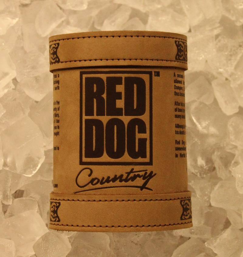Red Dog Deluxe Leather Stubby Holder