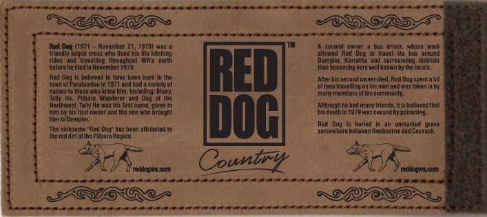 Red Dog Leather Stubby Holder - Wrap
